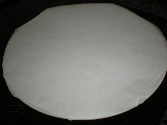 Forrar bandeja - Pizza de champiñones y jamón