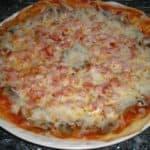 ▷ Pizza de champiñones y jamón 🍕