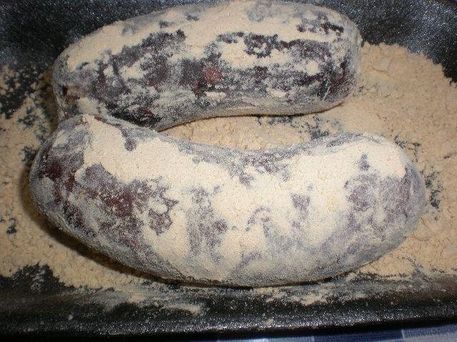 Pasar morcillas por gofio - Morcillas rebozadas con gofio