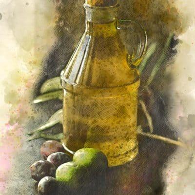 A las olivas roció