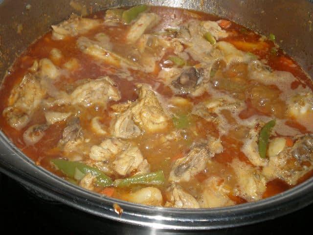 Dejar hervir el pollo - ▷ Pollo en salsa de verdura 