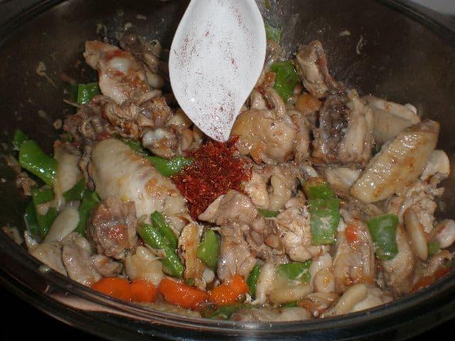 Echar el azafrán - ▷ Pollo en salsa de verdura 