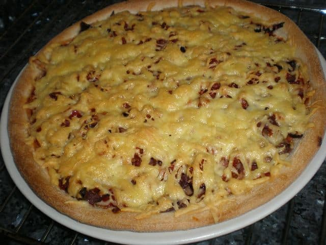 Pizza ocho verduras y chorizo 2 - Pizza ocho verduras y chorizo