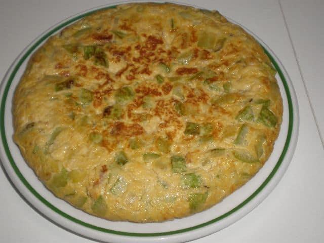 Tortilla de calabacín pochado 1