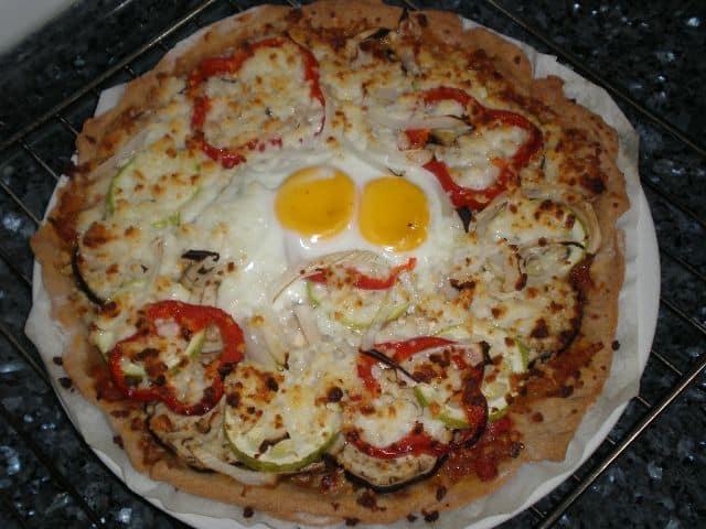 Pizza de verdura y huevo 1 - Pizza de verdura y huevo
