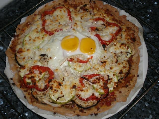 Pizza de verdura y huevo 2 - Pizza de verdura y huevo