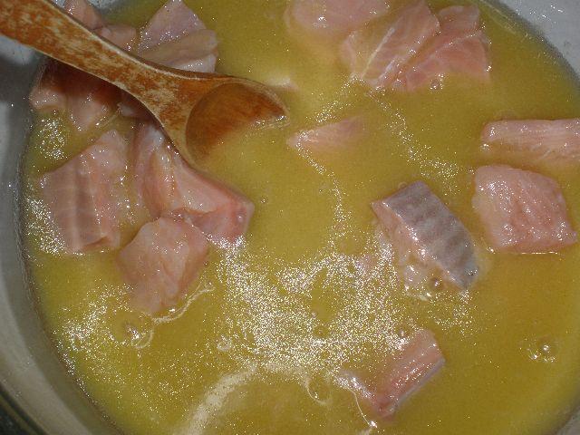Encurtido de salmón a la mostaza