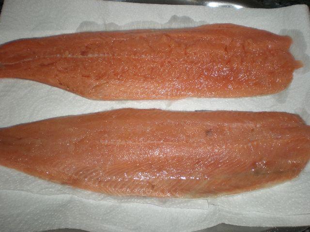 Filetes de salmón salvaje