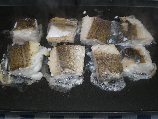 Asar lomos de bacalao