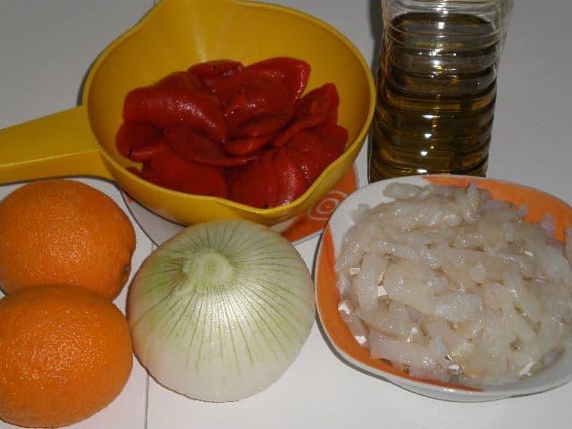 Ingredientes para bacalao veraniego
