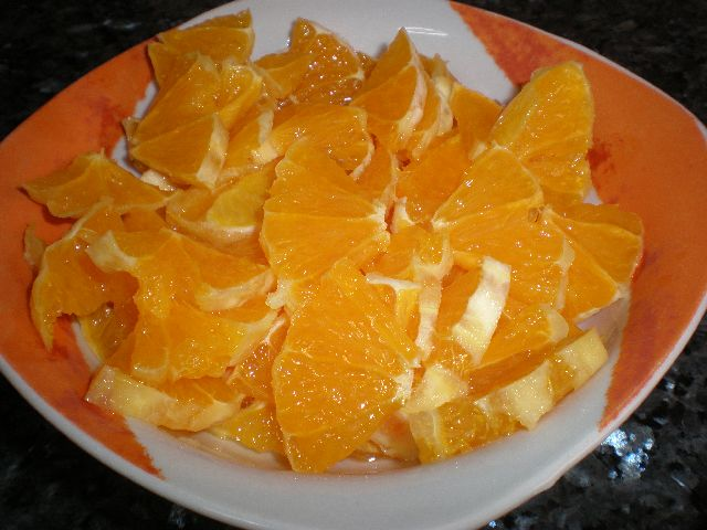 Naranjas troceadas