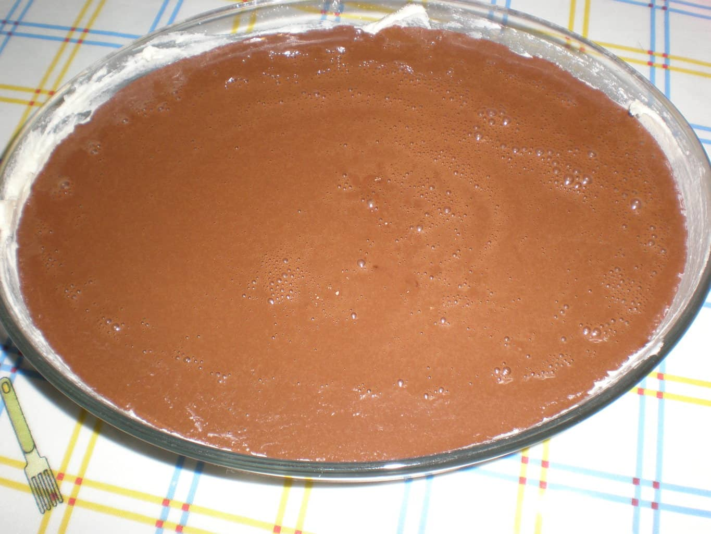 Masa para el bizcocho de cacao