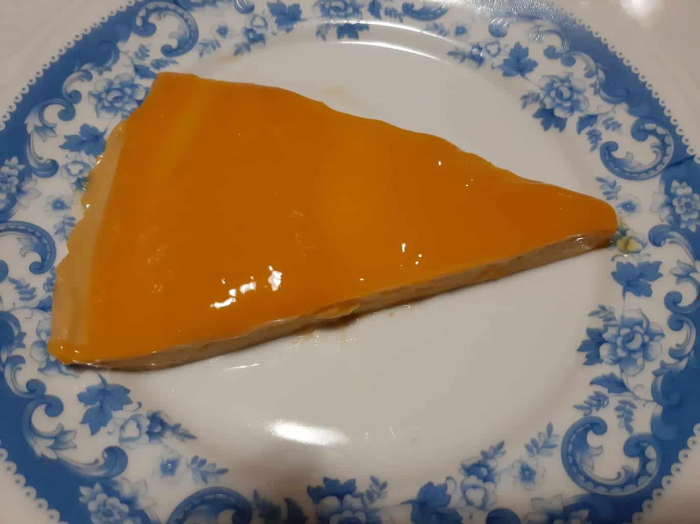 Tarta de mango gelatinado