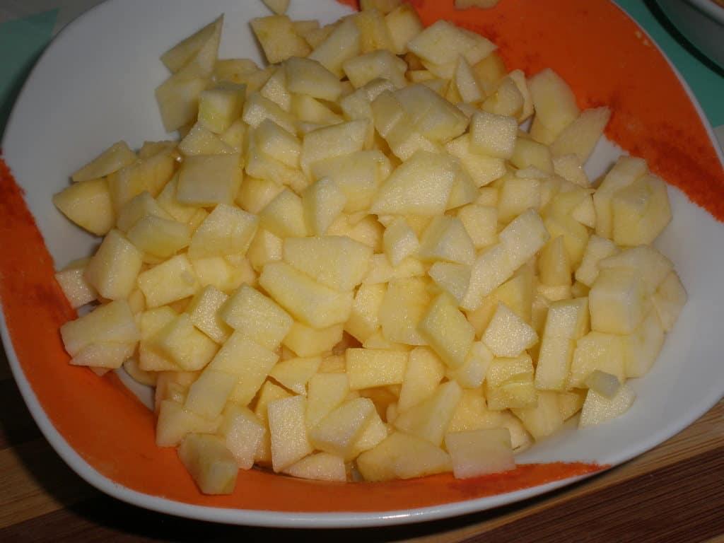 Daditos de manzana