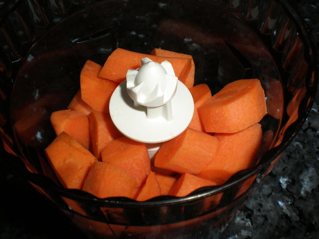 Zanahorias en picadora