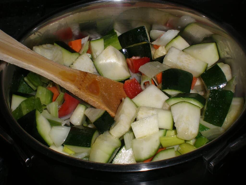 Mezclar la verdura