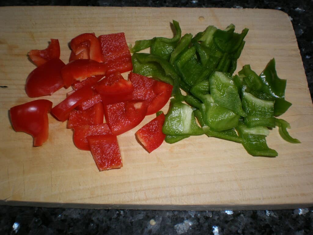 Pimiento rojo y verde