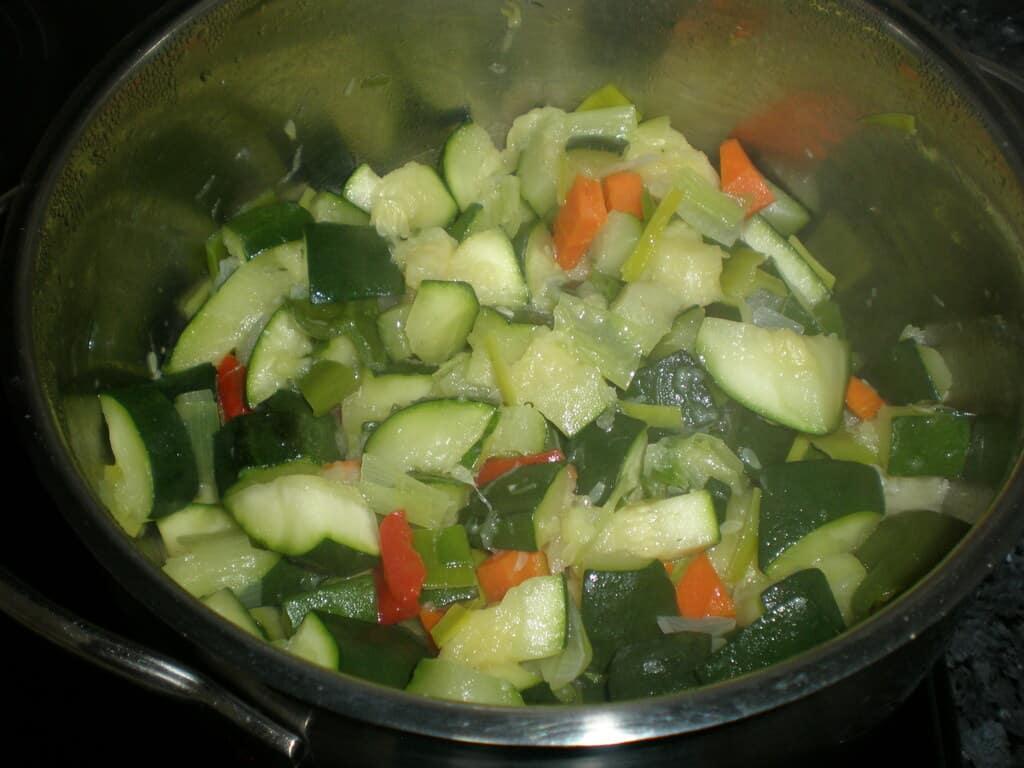 Sofreír la verdura
