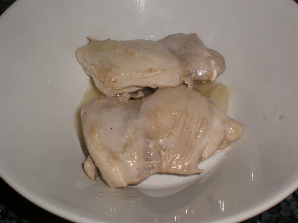 Contramuslos de pollo en salsa
