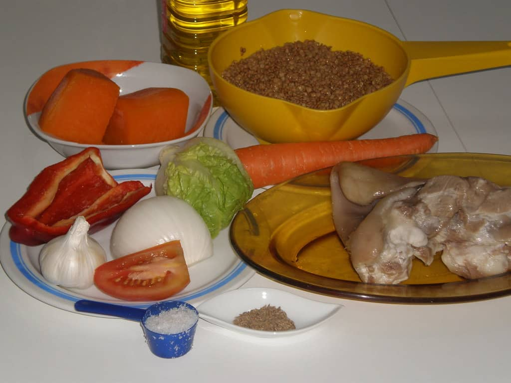 Ingredientes para lentejas