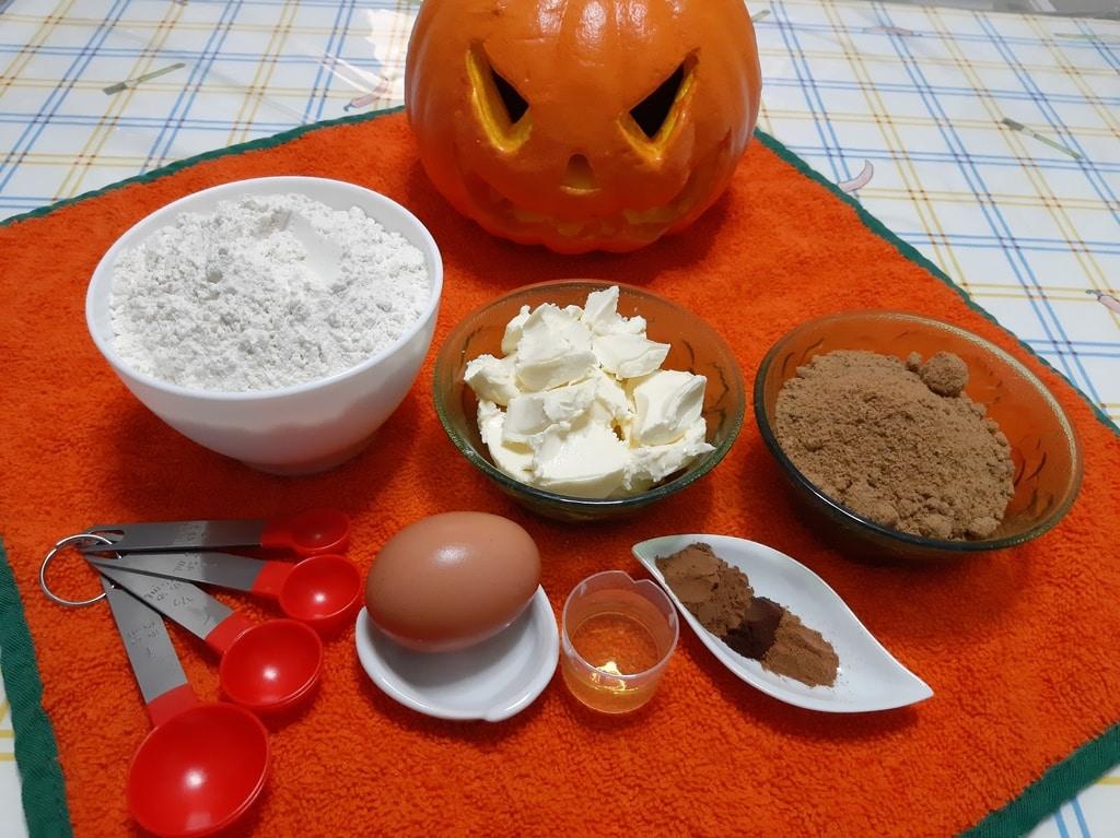 Ingredientes para pastelillos de almas