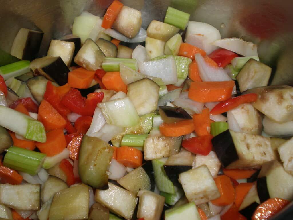 Mezclar y marcar la verdura