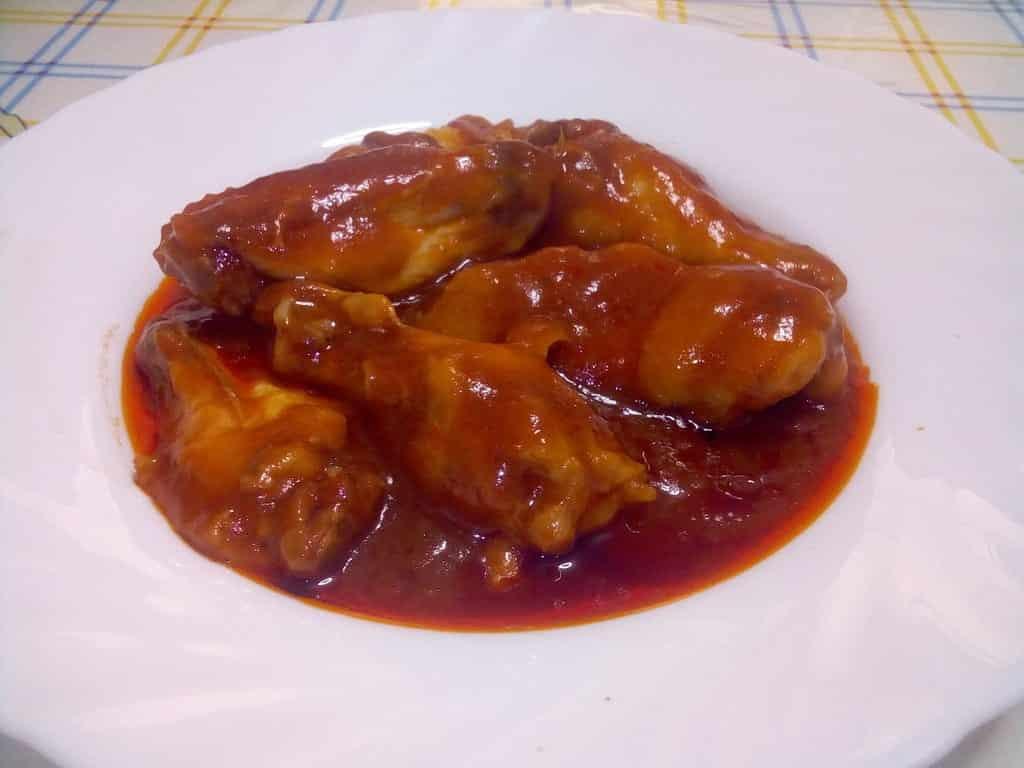 Alitas de pollo al kétchup