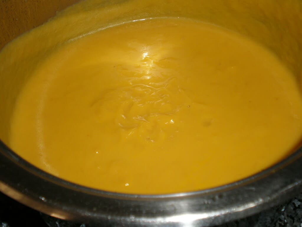 Crema de zanahorias y coliflor