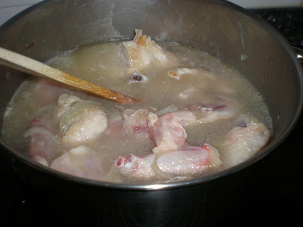 Mezclamos el pollo