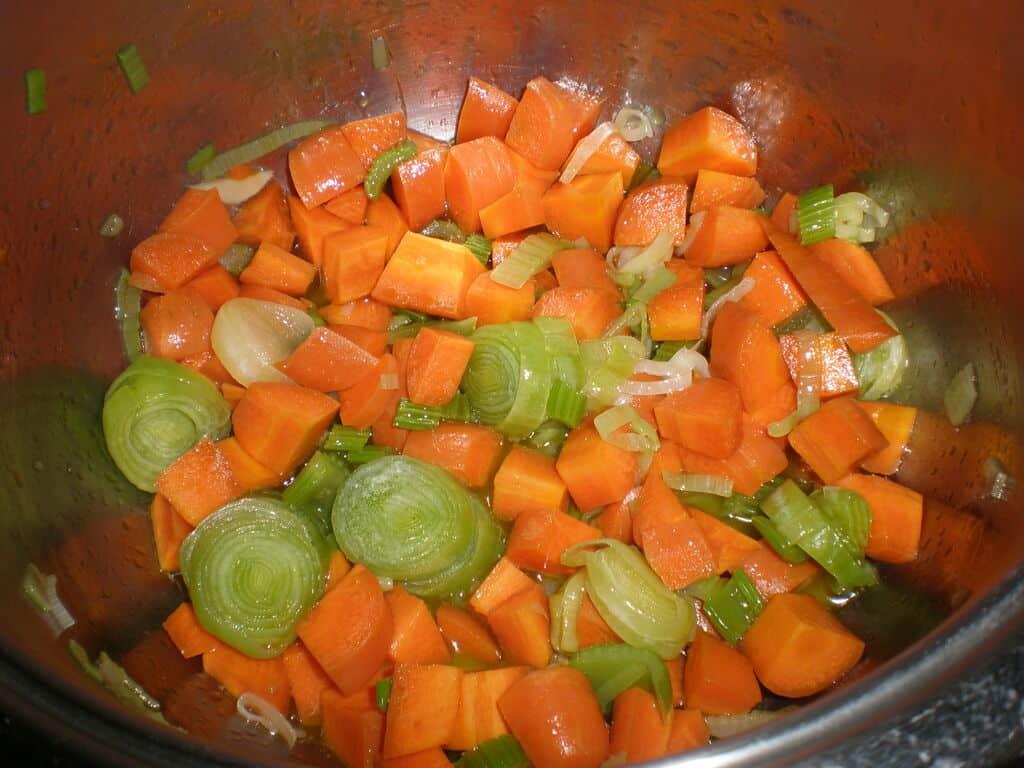 Saltear la verdura