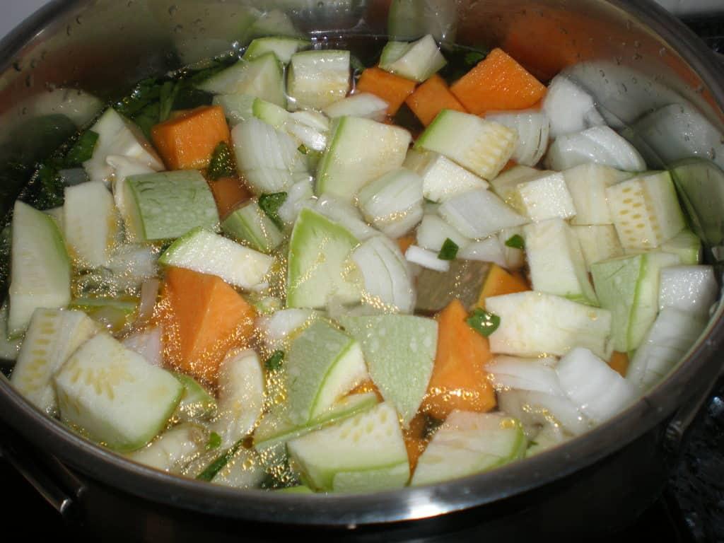 Cocinar la crema de verdura