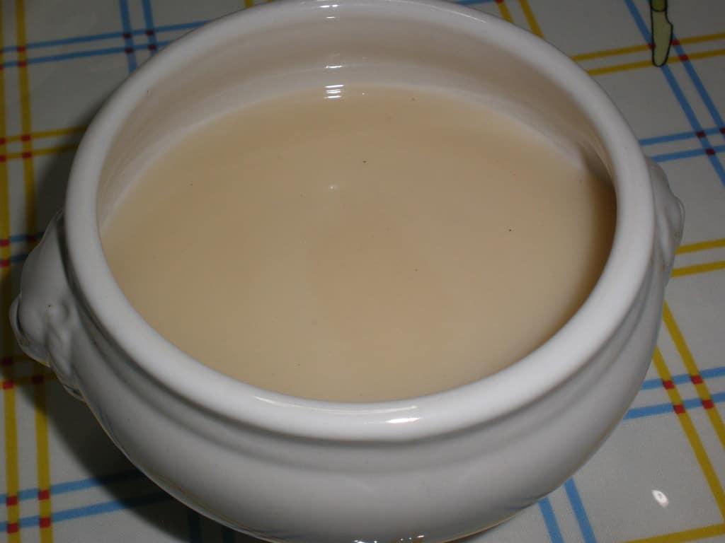 Crema de espárragos blancos