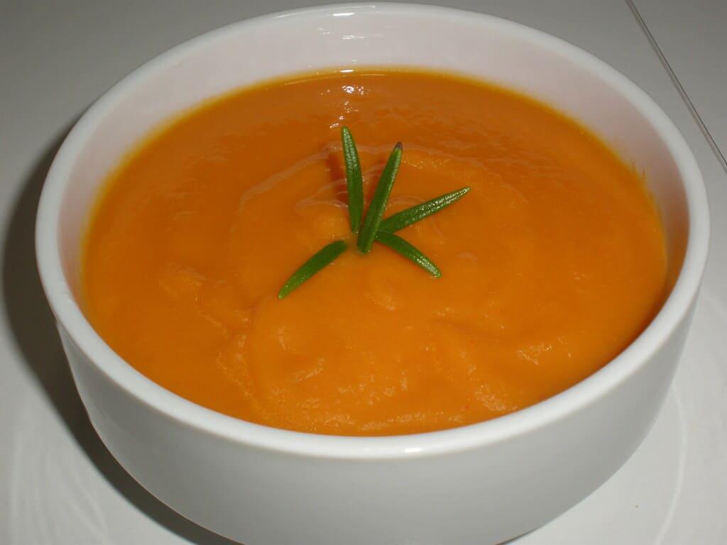 Crema de zanahorias al jengibre