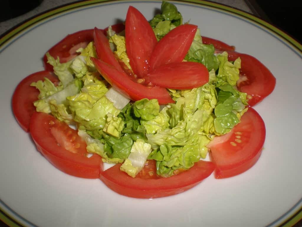 Ensalada flor de tomate