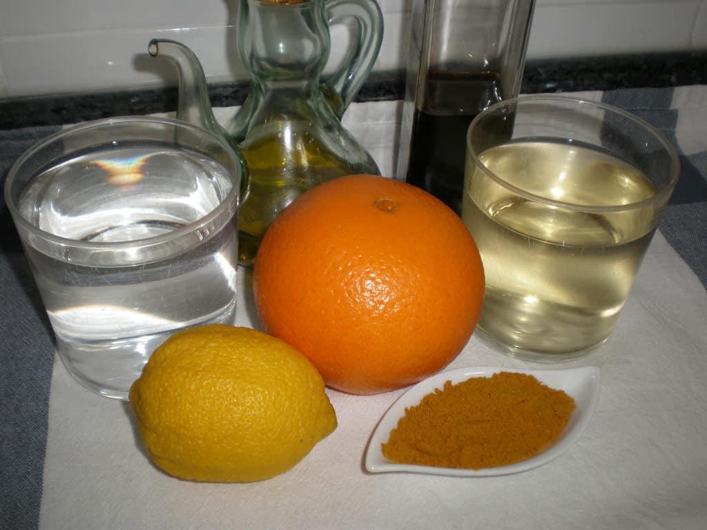 Ingredientes vinagreta de curry